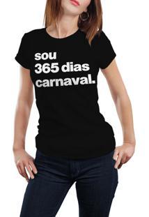 Camiseta Hunter 365 Carnaval Preta