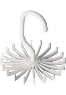 Cabide Giratório Para Gravatas- Branco- 11Xø10,8Cm
