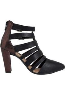 34f07746c9 Sandália Ankle Boot Dakota Feminino - Feminino-Preto
