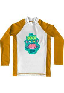 Camiseta De Lycra Comfy Beach Time Amarela