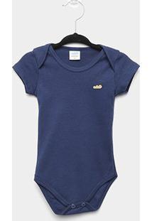 Body Infantil Marlan Bebê Básico - Masculino-Marinho