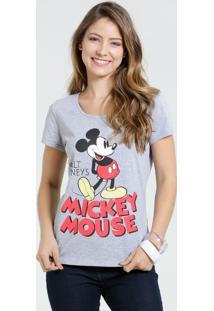 Blusa Feminina Manga Curta Mickey Disney