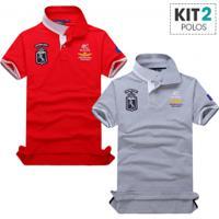248a93dd5bb31 Chic Best. Kit 2 Camisas Polo Piquet Masculino ...