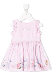 Lapin House Vestido Com Estampa De Logo - Rosa