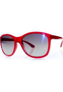 f7c07c2ef Óculos De Sol Tecnol Tn4001 D552 Vermelho Lente Cinza Degradê Tam 57