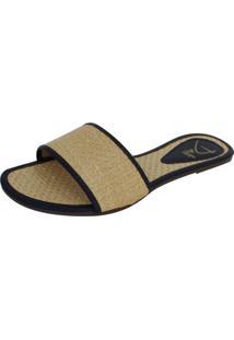 Rasteirinha Dali Shoes Slide Palha Bege
