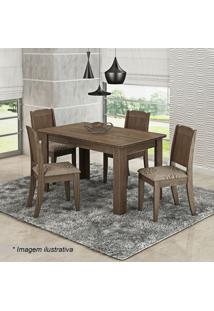 Conjunto De Mesa & Cadeiras Bárbara Para 4 Lugares- Marrcimol
