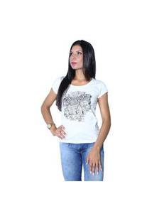 Camiseta Heide Ribeiro Estampada Zebra Preto