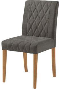 Cadeira Menta Assento Cor Cinza Com Base Nogal - 46449 - Sun House