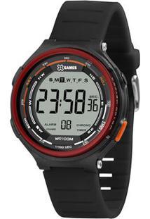 Relógio Digital Quartz Xmppd576Bxpx- Preto & Vermelho Esorient