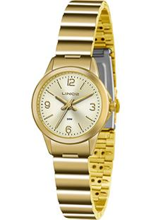 Relógio Lince Analógico Lrg4434Lc2Kx Feminino - Feminino-Dourado