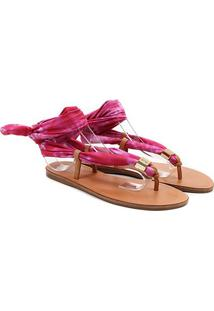 Rasteira Santa Lolla Tie Dye Feminina - Feminino-Pink