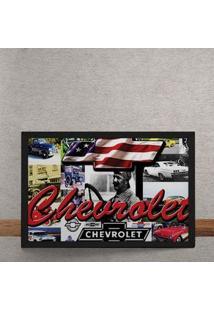 Quadro Decorativo Carro Chevrolet Estados Unidos 25X35