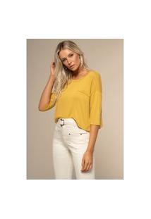 T-Shirt Acostamento Basic Amarelo