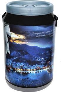 Cooler Para 24 Latas Doctor Cooler Cristo - Unissex-Preto