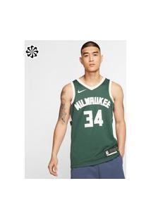 Regata Nike Giannis Antetokounmpo Bucks Icon Edition Masculina