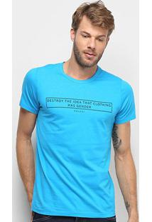 Camiseta Colcci Clothes Has Not Gender Masculina - Masculino-Azul Royal