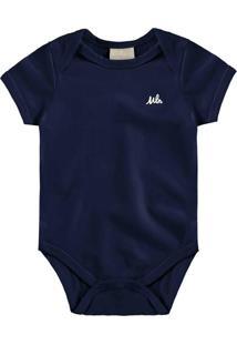 Body Infantil Azul Marinho