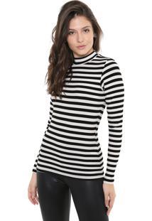 Camiseta Triton Listrada Off-White/Preta