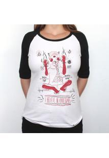 Tenha Fé Unicorno - Camiseta Raglan Manga ¾ Feminina