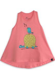 Vestido Infantil Caiçarinhas Baby Nadador A Tartaruga E O Passarinho