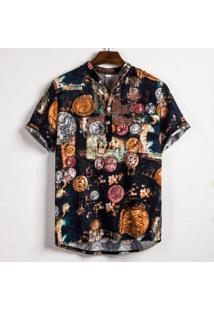 Camisa Havaiano Henley - Roma
