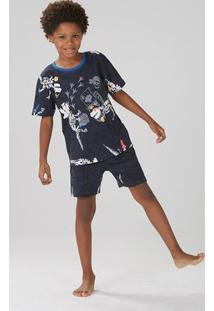 Pijama Infantil Masculino Que Brilha No Escuro [] []