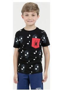 Camiseta Para Meninos Lycra Preta infantil   Shoes4you c4523e0ac4