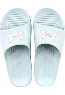 Chinelo Under Armour Core Feminino - Feminino-Azul Claro