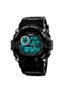 Relógio Digital Esportivo Dagg Black Army Preto