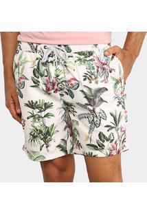 Bermuda D'Água Jab Floral Masculina - Masculino