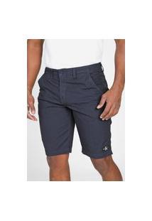 Bermuda Calvin Klein Jeans Chino Tag Azul-Marinho