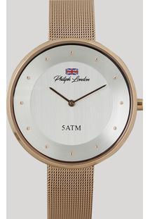 e198b06c0c2 Relógio Analógico Philiph London Feminino - Pl81025113F Rosê - Único