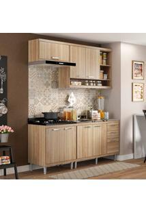 Cozinha Compacta 4 Peças Com 7 Portas 5810-S6 Sicília - Multimóveis - Argila Acetinado