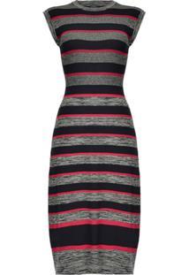 Pinko Stripe Knitted Dress - Cinza