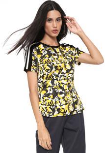 Camiseta Cavalera Estampada Off-White/Amarela