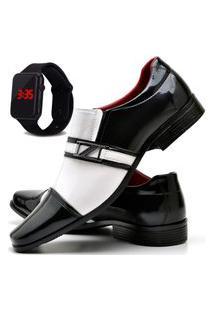 Sapato Social Com E Sem Verniz Asgard Com Relógio Led Db 820Lbm Branco