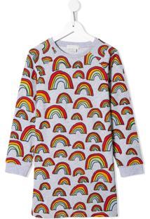 Stella Mccartney Kids Vestido De Lã Com Estampa Arco-Íris - Cinza