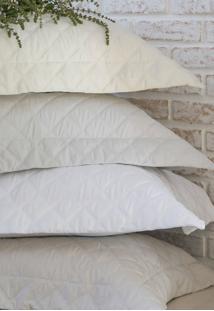 Colcha Trapuntada ÔNix Com Porta Travesseiro Pã©Rola - Scavone - Off-White - Dafiti