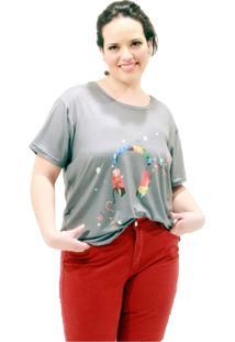 Camiseta Fone De Ouvido Plus Size