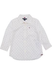 9639d5d44f Camisa Polo Tommy Hilfiger Kids Menino Liso Branco