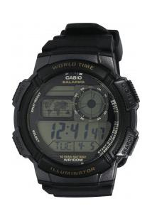 Relógio Digital Casio World Time Ae1000W - Unissex - Preto