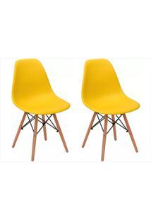 Kit Mpdecor 02 Cadeiras Eiffel Charles Eames Amarela - Tricae