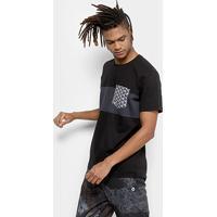 4b03e8bf5 Camiseta Okdok Classic Com Bolso Sublimado Masculina - Masculino-Preto