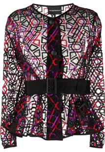 Emporio Armani Sheer Jacket - Preto