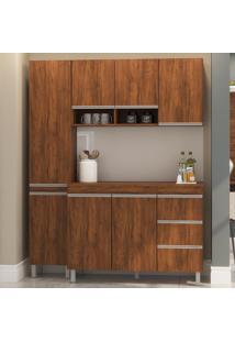Cozinha Compacta 7 Portas 3 Gavetas Sabrina 12900 Seda - Viero Móveis