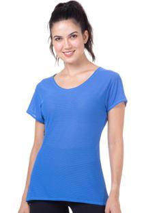 Camiseta Baby Look Azul | 598.822