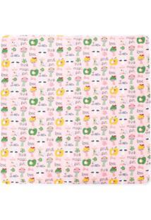 Fendi Kids Cobertor Estampado - Pink & Purple