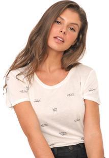 Camiseta Polo Wear Reta Lettering Off-White