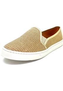 Slip On Slipper Lurex Dourado Dani K